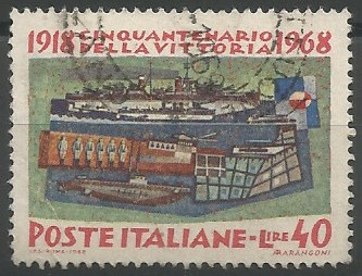 postage stamp designer: 50th anniversary of victory in 1918: the sea forces