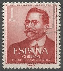 Juan Vázquez de Mella y Fanjul, philosopher; deputy for Navarra in the Spanish congress, 1893-1899, 1903-1916; for Oviedo, 1916-1918
