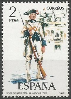 regimiento de infantería Asturias n.º 24, 1789
