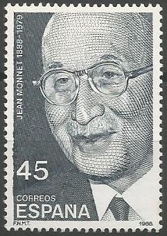Jean Omer Marie Gabriel Monnet, économiste; secrétaire général adjoint de la Société des Nations, 1919-1923; président de la haute autorité de la Communauté Européenne du Charbon et de l'Acier, 1952-1955