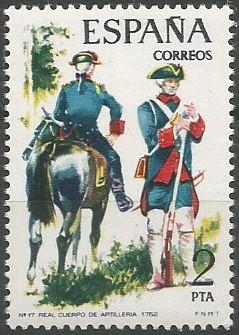 Real Cuerpo de Artillería, 1762