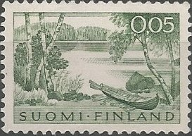 view of lake Keurusselkä: 27 km long lake between towns Keuruu and Mänttä