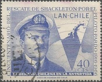 Luis Pardo Villalón, teniente primero y piloto de la armada de Chile. Designado comandante de la escampavía Yelcho, rescató a los náufragos del bergantín Endurance en 1916, navío británico bajo el mando de Ernest Henry Shackleton, que se hundió entre placas de hielo en el mar de Weddle, en noviembre de 1915.