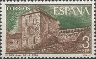 En su origen aparece la construcción de un monasterio dedicado a San Juan Bautista en Botaya (Jaca), a finales del siglo IX, del que sobreviven algunos elementos. La ampliación y refundación bajo el nombre de San Juan de la Peña, así como la cesión a la orden benedictina de Cluny, tuvo lugar alrededor de 1025  por iniciativa de Sancho Garcés Jiménez, el Mayor, rey de Pamplona de 1004 a 1035.