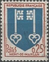 Les armoiries de la ville de Mont-de-Marsan furent enregistrées dans l'Armorial Général de France dressé en vertu de l'édit du 20 novembre 1696. Le brevet en fut délivré par ordonnance de Charles d'Hozier, garde de l'Armorial, le 21 février 1698: