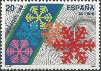 celebración de la navidad: cristalizaciones de nieve