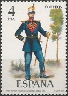 tambor mayor de infantería de línea, 1861