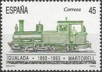 Amb el desig d'enllestir la demanda ferroviària frustrada des de 1855, les obres es van reprendre gràcies a l'impuls de la Compagnie du Chemin de Fer Central Catalan, una societat de capital belga que havia guanyat la concessió. Així, el novembre de 1892 la primera locomotora de prova procedent de Martorell, s'adreçava fins a Igualada, inaugurant-se oficialment la línea el 19 de juliol de 1893.