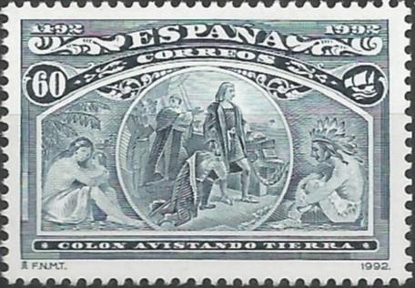 Colón avistando tierra