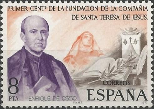 san Enrique de Ossó; sacerdote católico fundador de la Compañía de Santa Teresa de Jesús en 1876