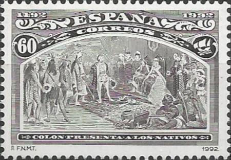 Colón presenta a los nativos, 1493