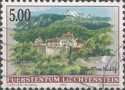 Entwerfer von Briefmarken: Schloss Vaduz