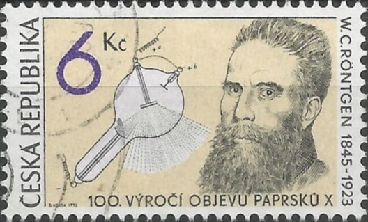postage stamp engraver: 100th anniversary of the discovery of x-rays