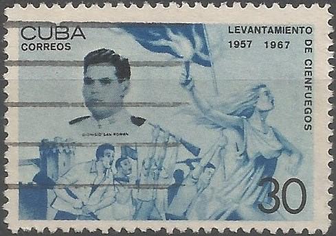 alférez de fragata; protagonista del levantamiento de Cienfuegos en 1957