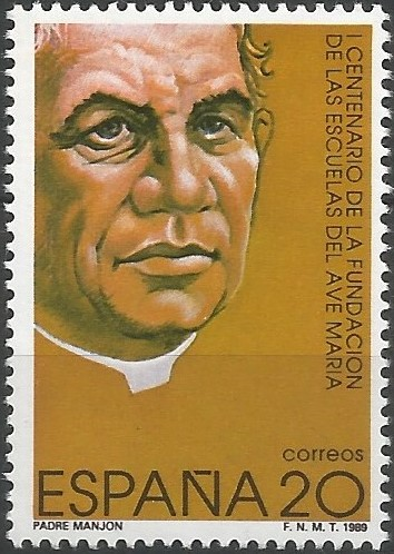 priest, jurist; pedagogue: founder of the Escuelas del Ave María in 1889