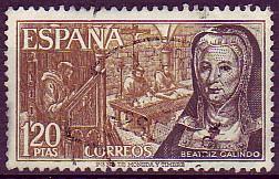 Beatriz Galindo, la latina, en una composición de ambiente medieval