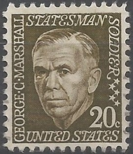 general of the army; chief of staff of the army, 1939-1945; secretary of state, 1947-1949; secretary of defence of the United States of America, 1950-1951