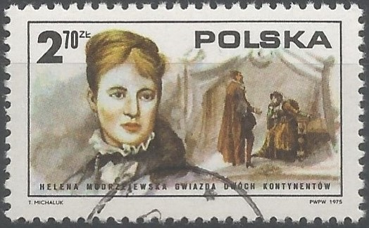 postage stamp designer: bicentenary of the American revolution: Polish participation in American life: Helena Modjeska from 1877