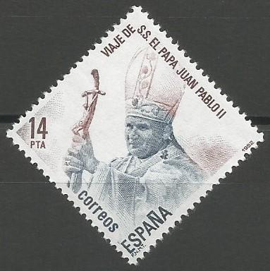 graveur de timbres-poste: voyage du pape Jean Paul II en Espagne