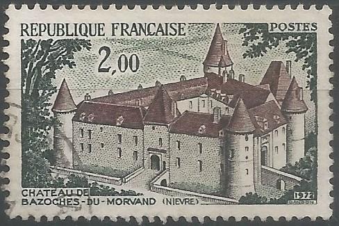 graveur de timbres-poste: château de Bazoches-du-Morvand (Nièvre)