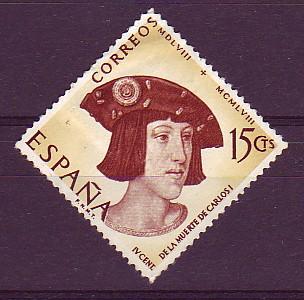 Identificato con Filippo terzo re di Spagna, è elencato in due inventari di Olimpia Aldobrandini, il personaggio ritratto tuttavia, da confronti con l'iconografia di re e imperatori, sembrerebbe in realtà assomigliare più a Carlo V, di cui la bottega di van Orley (1489-1542) ha eseguito vari ritratti. Il sovrano si caratterizza per l'onorificenza del Toson d'oro. (Galleria Borghese, Roma: 281)