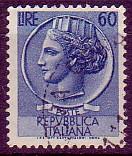 L'immagine della ninfa Aretusa, detta siracusana, che caratterizzò i francobolli ordinari italiani per un trentennio, fu tratta da un tetradracma coniato a Siracusa alla fine del IV secolo AC. Un esemplare è conservato al Museo nazionale romano. (